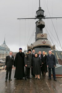 Head of the House of Romanoff on board the cruiser Aurora, November 8, 2017