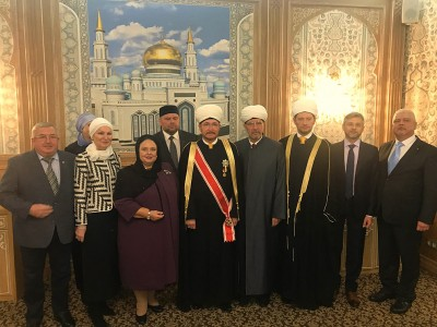 The Head of the House of Romanoff visits the Moscow Cathedral Mosque